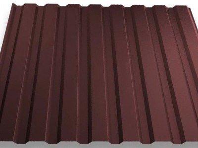 Профнастил ПС-10 (0,32мм) Шоколадный (1,18) (RAL 8017)
